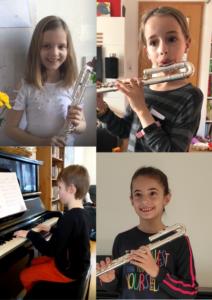 SchülerInnen Ricarda Schumann mit einem Projekt der die Corinna-Zeit für Kinder